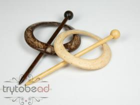 Shawl pin 80mm round