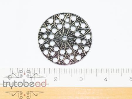Claspgarten Filigree Round 22mm