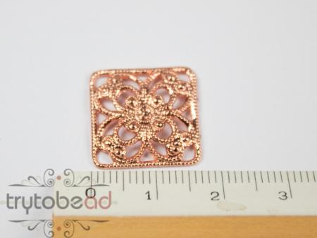 Claspgarten Filigree Square 17x17mm